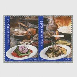 フィンランド 2005年ヨーロッパ切手2種
