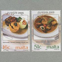 マルタ 2005年ヨーロッパ切手2種