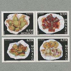 モナコ 2005年ヨーロッパ切手4種