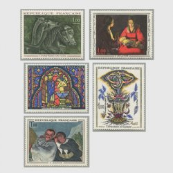 フランス 1966年美術切手5種