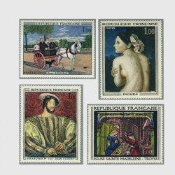 フランス 1967年美術切手4種