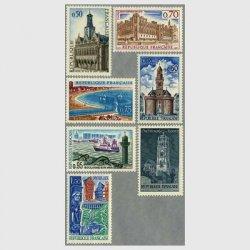 フランス 1967年観光切手7種