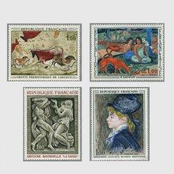 フランス 1968年美術切手4種