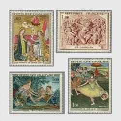 フランス 1970年美術切手4種