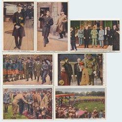 絵はがき 東宮殿下御訪欧記念謹寫7種 -報知社代理部
