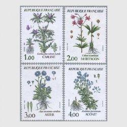 フランス 1983年高山植物4種