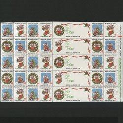 アメリカ 1986年クリスマスシールシート