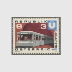 オーストリア 1978年ウィーン地下鉄一部運行開始
