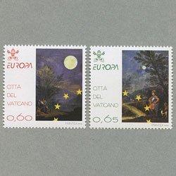 バチカン 2009年ヨーロッパ切手2種