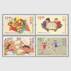 香港 2004年児童切手(おもちゃとゲーム)4種