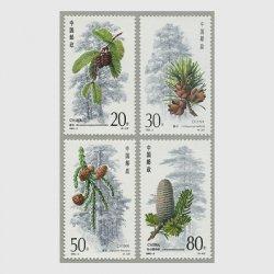 中国 1992年杉4種(1992-3T)