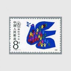 中国 1986年国際平和年