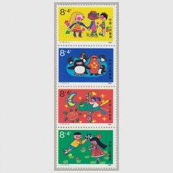 中国 1989年子供の日4種