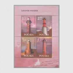 ポーランド 2007年灯台小型シート