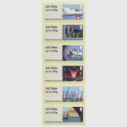 イギリス 2015年船の旅6種・ラベル切手