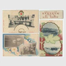 絵はがき 日露戦役記念第2回発行 3種揃い 帯紙付き -逓信省
