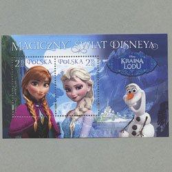 ポーランド 2015年ディズニー映画「アナと雪の女王」小型シート