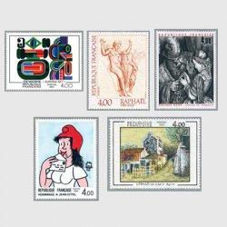 フランス 1983年美術切手5種