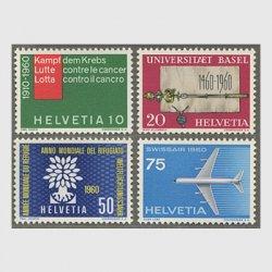 スイス 1960年バーゼル大学500年など4種