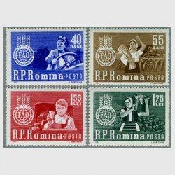 ルーマニア 1963年飢餓救済キャンペーン4種