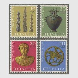 スイス 1972年社会福祉 考古学上の貴重品4種