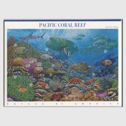 アメリカ 2004年太平洋のサンゴ礁 シート