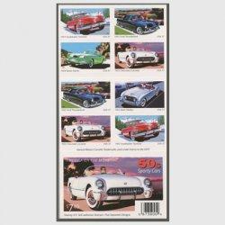 アメリカ 2005年1950年代のスポーツカー 切手帳