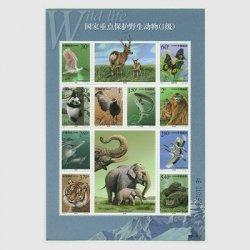 中国 2000年国家重点保護野生動物(1級)1次(2000-3T)※少難品