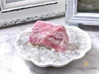 インカローズ原石&水晶チップ&シェルプレート