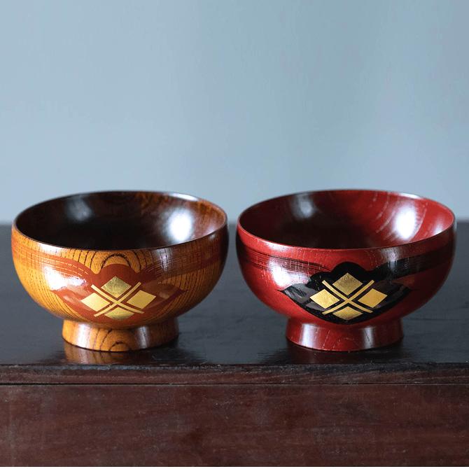 汁椀(ふき漆)2個セット