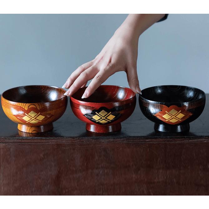汁椀(ふき漆)3個セット