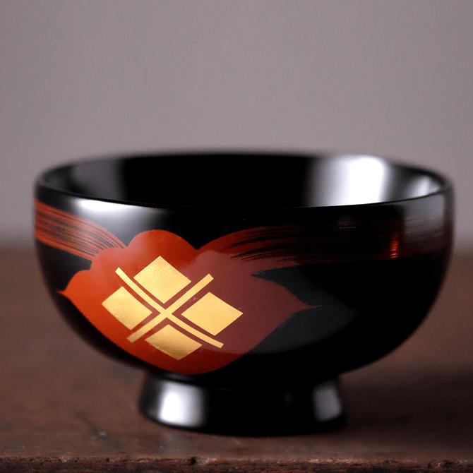 汁椀(花塗り・黒/朱/溜)