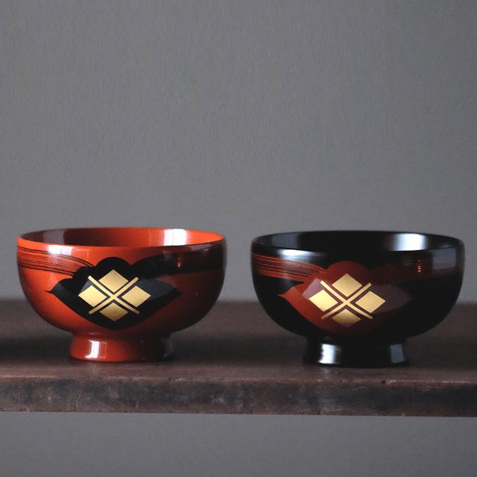 汁椀(花塗り) 2個セット