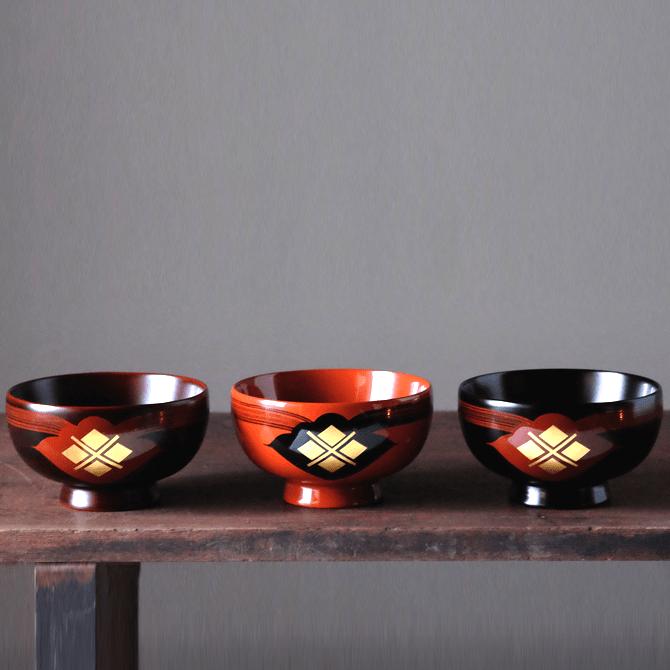 汁椀(花塗り)3個セット