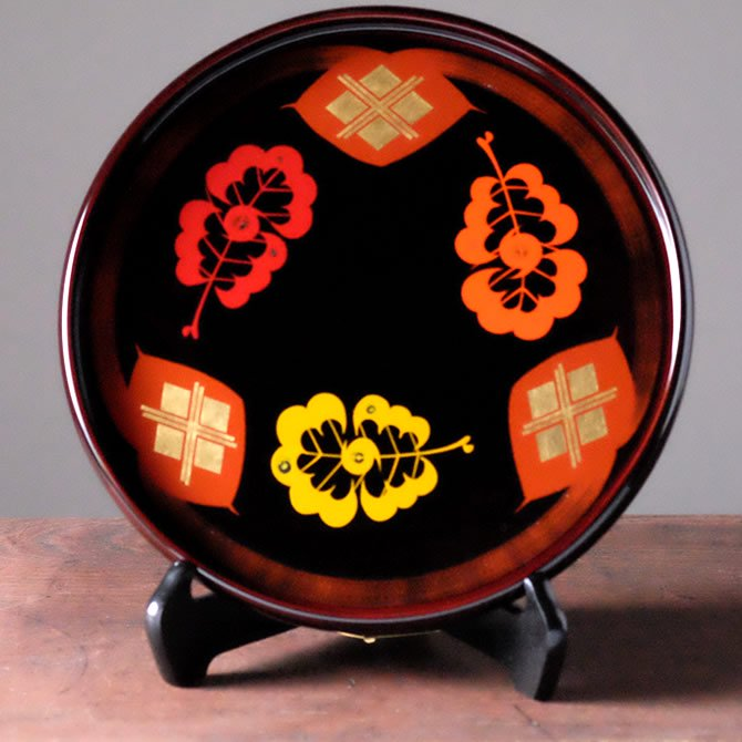 丸盆(30cm・柏・溜め)