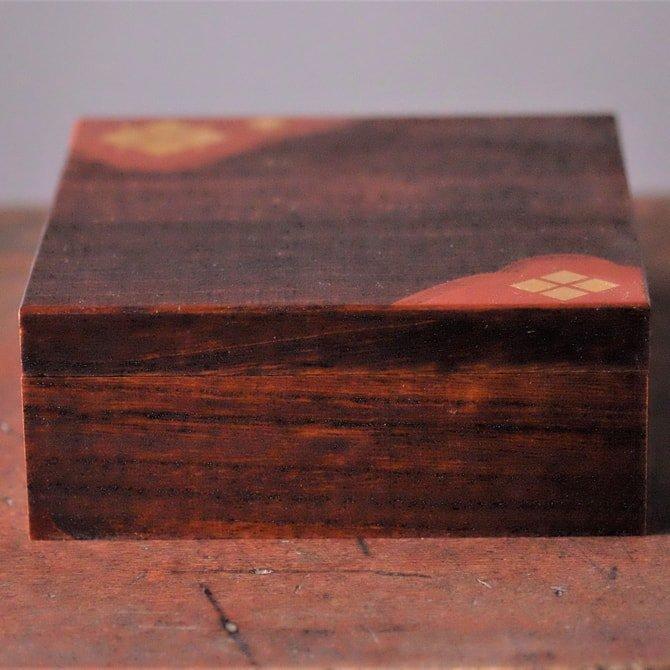 小箱(拭き漆)(黒/木目)