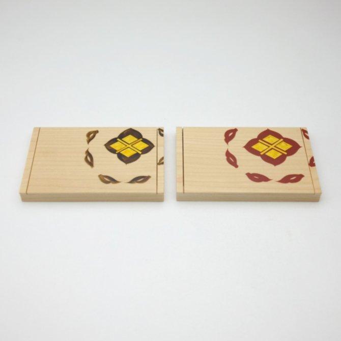 宝相華唐草 名刺ケース (白板)(黒/朱)