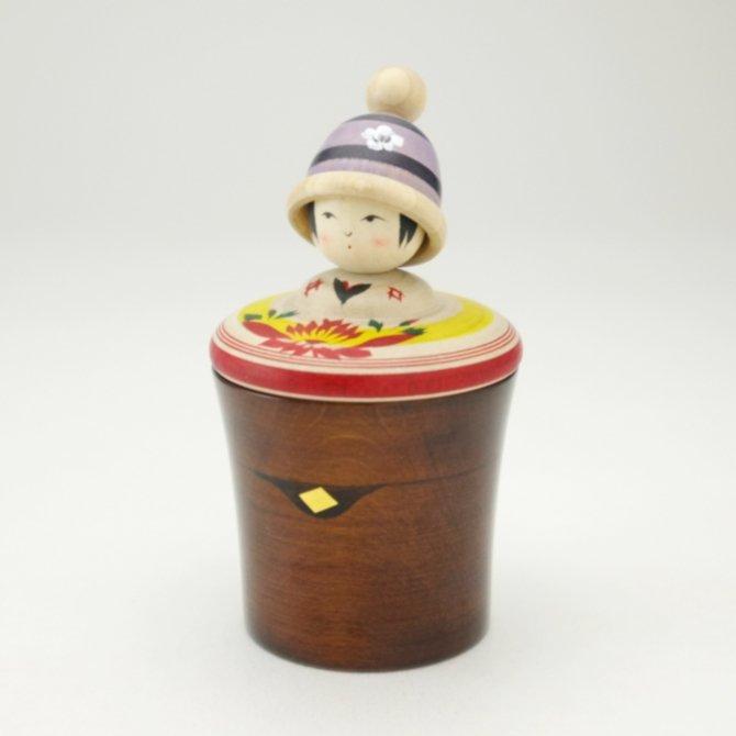 玉小箱 ニット帽(青)