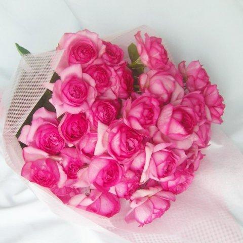 色お任せ国産大輪バラ20本の花束配達日限定特別価格会員は40%引き