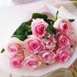 フレッシュな大輪ばらの色お任せ花束10本を会員価格で一部地域は送料無料