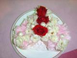 プリザーブドフラワー・ハートの苺ケーキ