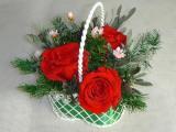 プリザーブドフラワー小さなアレンジ・赤いバラ送料無料ケース付