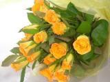 父の日にオレンジのばらの花束20本5,000円