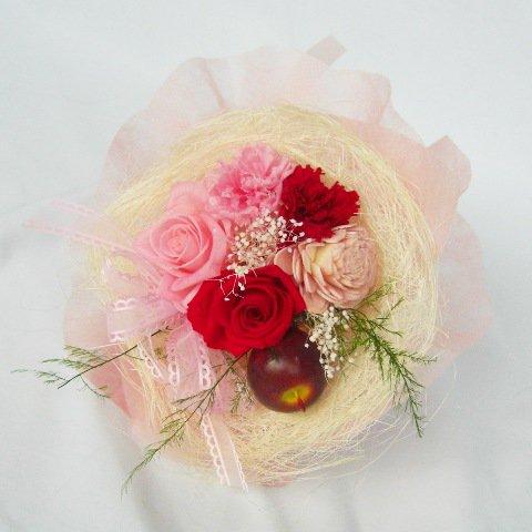 プリザーブドフラワー・ピンクの花束