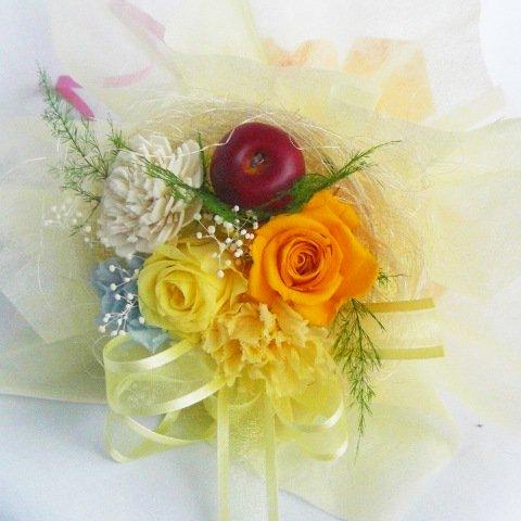 プリザーブドフラワー・イエローの花束