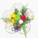 送料無料誕生日、母の日、お正月にもお勧め菊のプリザーブドフラワー和風アレンジ梅