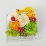 送料無料誕生日、母の日、お正月にもお勧め菊のプリザーブドフラワー和風アレンジことり