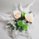 送料無料お供え用にもお勧め菊のプリザーブドフラワー和風アレンジ、祈り