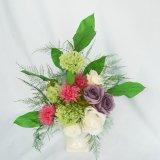 送料無料お供え用にもお勧め菊のプリザーブドフラワー和風アレンジ、静