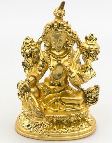 緑多羅(グリーンターラー)菩薩 ミニ仏像(置物)